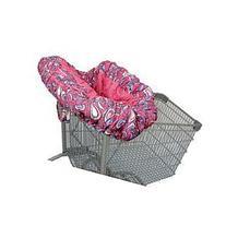 Floppy Seat Shopping Catr Cover-Shell's Swirl