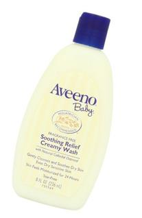 Aveeno Baby Soothing Relief Creamy Wash, Fragrance Free, 8