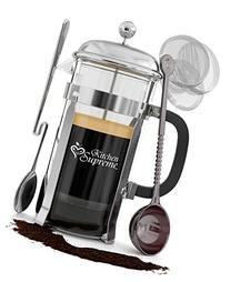 French Press Coffee & Tea Maker Complete Bundle | 34 Oz |