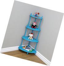 Frenchi Home Furnishing Kid's 4-Tier Shelves, Blue