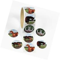 """Fun Express - 100 Horse Stickers, 1 Roll, 1 1/2"""", Assorted"""