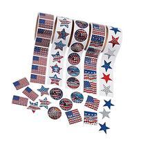 Fun Express Patriotic Rolls Of Stickers Assortment - 5 Rolls