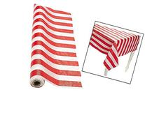 Fun Express SYNCHKG028647 Red and White Striped Tablecloth