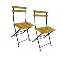 Mobel Designhaus French Café Bistro Folding Side Chair, Jet