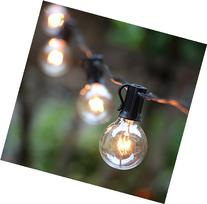 25Ft G40 Globe String Lights with Clear Bulbs,UL listed