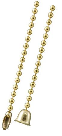 GE Beaded Chain, 5-Foot, Brass Finish 54434