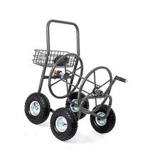 GHP Heavy Duty Wind up Storage Garden Water Hose Reel Cart