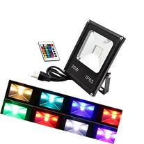 GLW LED RGB Flood Light, 20W Outdoor Color Changing Lights