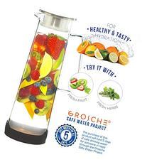 GROSCHE BALI Hand-Made Glass Water Infuser & Water Pitcher
