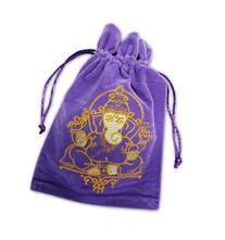 FindSomethingDifferent Ganesh Luxury Velvet Tarot Card Bag