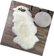 Genuine Australian Sheepskin Rug Two Pelt Ivory Fur, Double