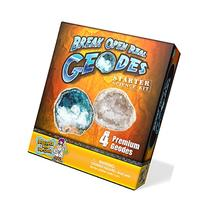 Geode Starter Rock Science Kit – Crack Open 4 Amazing
