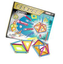 Geomag 44-Piece Glitter Construction Set with Assorted