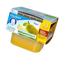 Gerber 1st Foods Nature Select Pears. 2.5 oz. 1 Pack
