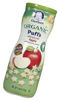 Gerber Organic Puffs - Apple - 1.48 oz - 3 pk