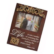Friends Gift Life Greetings 4 by 6 Inch Picture Frame for