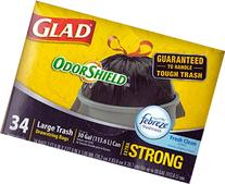Glad OdorShield Fresh Clean Extra Strong Drawstring Large