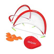 GoSports Portable Pop-Up Soccer Goal , Red/White, 4