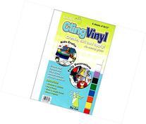 Grafix GFXKCF-6.C Grafix Cling Vinyl Sheet - 6 Piece, Clear
