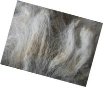 Gray Alpaca Handspinning Felting Fiber Fleece Wool