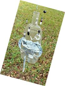 Grey Goose Bottle Wind Chimes - Handmade Fused Glass Mobile