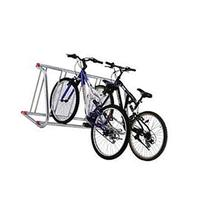 Grid Bike Rack, Single Sided, Powder Coated Galvanized Steel