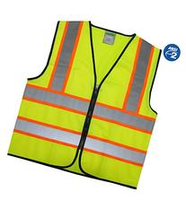 GripGlo Reflective Safety Vest, Bright Neon Color with 2