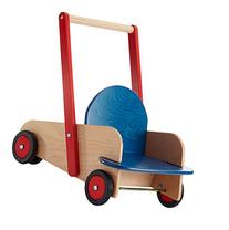 HABA Walker Wagon - First Wooden Push Toy with Seat &