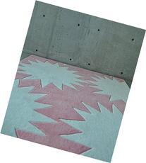 HAND-TUFTED Children's Rug in Pink, Modern STARBURST  4x6,