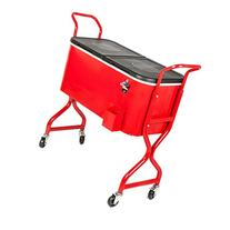 HIO 80 Qt Outdoor Patio Cooler Table On Wheels, Rolling
