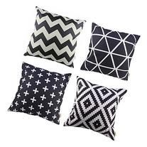 HOSL P61 4pcs Cotton Linen Sofa Home Decor Design Throw
