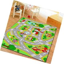 HUAHOO Kids' Rug With Roads Kids Rug play mat City Street