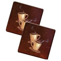 Hallmark Range Kleen Hot Pads, HP77AS, Coffee, Set of 2