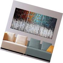 "ARTLAND Hand-Painted ""Color Forest"" 3-Piece Gallery-Wrapped"