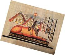 Hand Painted Natural Papyrus Painting Shows the Great