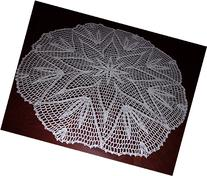 Handmade Lace Tablecloth, Large Lace Doily, Lace Tablecloth