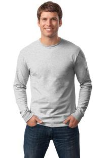 Hanes 5586 Tagless Long-Sleeve T-Shirt Size Extra Large, Ash