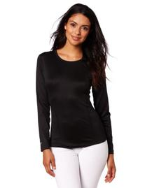 Duofold Women's Mid Weight Varitherm Thermal Shirt, Black,
