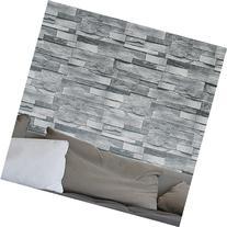 HaokHome 454003 Modern Faux Stone Wallpaper Roll Gray 3D