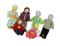Hape Caucasian Doll Family Set for Kid's Dollhouses