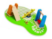 Hape Wooden Doll House Furniture Playground Set and