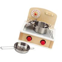 Hape Tabletop Cook and Grill Kid's Wooden Kitchen Play Set