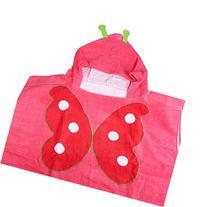Happy Cherry Kids Hooded Poncho Cartoon Bath/Beach Towel -