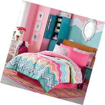 Happy Chevron Rainbow Girls Teen Comforter + Sham + 100%