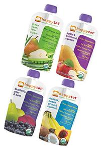 Happy Tot Organic Superfoods Stage 4 Variety Pack of 16