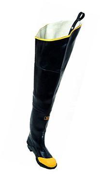 Herco Heavy Duty Rubber Steel Toe Hip Waders - Men's Size 9