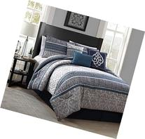 Heritage Bay 7 Piece Simon Jacquard Comforter Set, Queen,