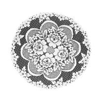 Heritage Lace Victorian Rose 19-Inch Doily, White, Set of 2
