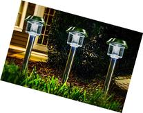 Highgate Solar Accent LED Path Lights, Stainless Steel,