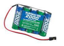 Hobbico HydriMax NiMH 5C 6V 2000mAh AA Flat Rx U Battery
